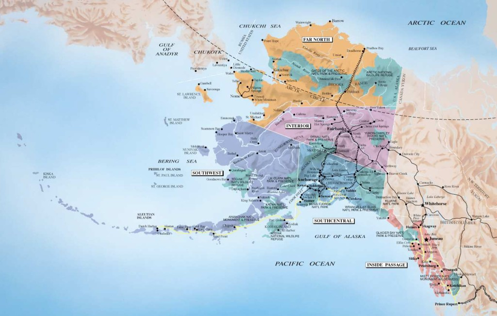 Alaska Map Alaska Redfish Lodge Demographics